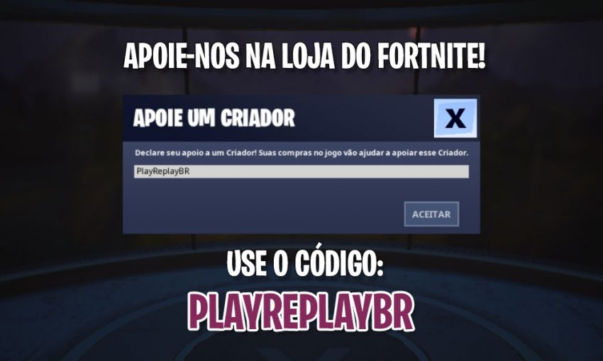 Use o Código: PlayReplayBR