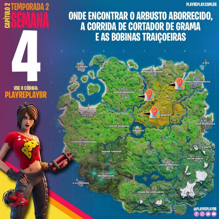 Fortnite Desafio Semana 4 Temporada 2