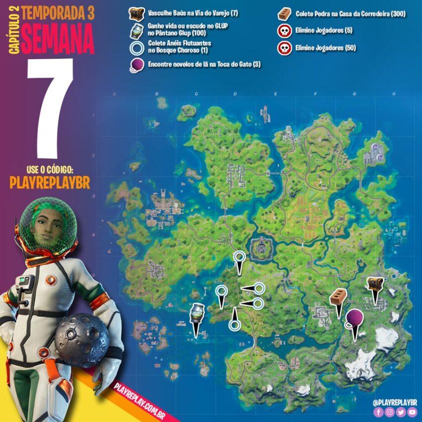 Fortnite Desafios da Semana 7 da Temporada 3 Capítulo 2