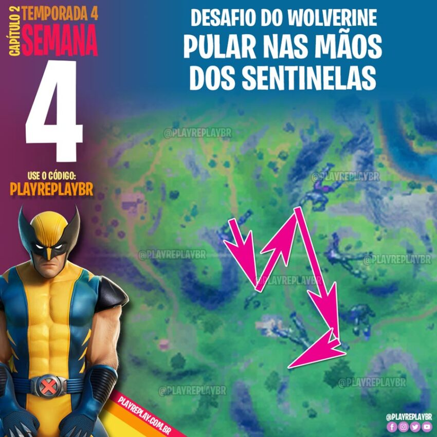 Fortnite - Como completar todos os Desafios Wolverine